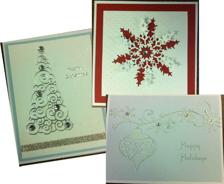 memory box dies christmas cards